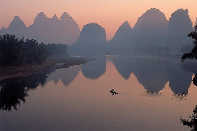 Li river scenery near Guilin