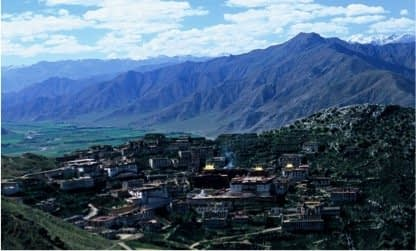 Lhasa Valley from Ganden Monastery